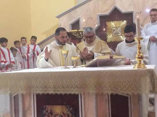 Concelebrazione nel Santuario di Plaesano novena San Biagio