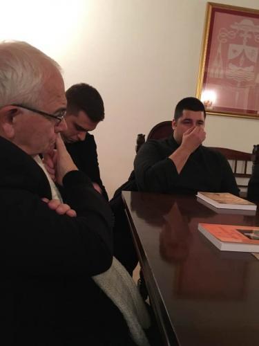 Incontro prenatalizio fra vescovo e seminaristi
